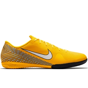 Nike Neymar Vapor 12 Academy IC Indoor Soccer Shoes (Amarillo/White/Black)