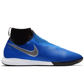 Nike React Phantom Vision Pro DF IC Indoor Soccer Shoes (Racer Blue/Black/Metallic Silver/Volt)