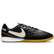 Nike Lunar LegendX 7 Pro 10R IC Indoor Soccer Shoes (Black/Light Orewood/Metallic Gold)