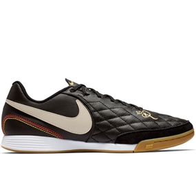 Nike Lunar LegendX 7 Academy 10R IC Indoor Soccer Shoes (Black/Light Orewood/Metallic Gold)