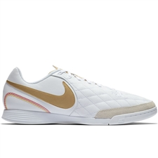 Nike LegendX VII Academy 10R IC Indoor Soccer Shoes (White/Metallic Gold)