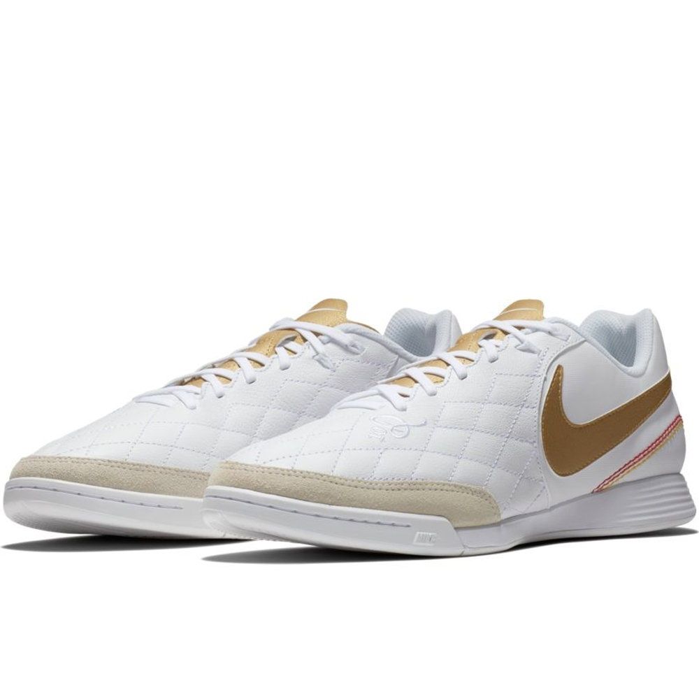 new product 31530 e4aa6 Nike LegendX VII Academy 10R IC Indoor Soccer Shoes (White/Metallic Gold)