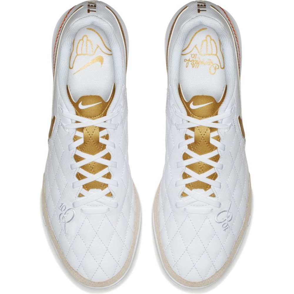 cheap for discount 2e62e 9b99e Nike LegendX VII Academy 10R IC Indoor Soccer Shoes (White Metallic Gold)