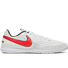 Nike Legend 8 Academy IC Indoor Soccer Shoes (Platinum Tint/Bright Crimson/White)