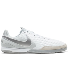 Nike Legend 8 Academy IC Indoor Soccer Shoes (White/Chrome/Pure Platinum)