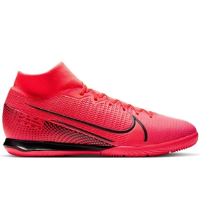 Nike Mercurial Superfly 7 Academy IC Indoor Soccer Shoes (Laser Crimson/Black)