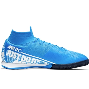 Nike Superfly 7 Elite IC Indoor Soccer Shoes (Blue Hero/White/Volt/Obsidian)
