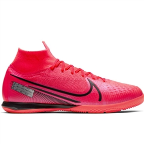 Nike Mercurial Superfly 7 Elite IC Indoor Soccer Shoes (Laser Crimson/Black)