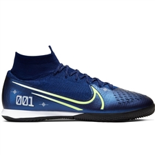 Nike Superfly 7 Elite MDS IC Indoor Soccer Shoes (Blue Void/Barley Volt/White/Black)