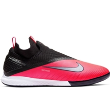 Nike React Phantom Vision 2 Pro DF IC Indoor Soccer Shoes (Laser Crimson/Metallic Silver/Black)