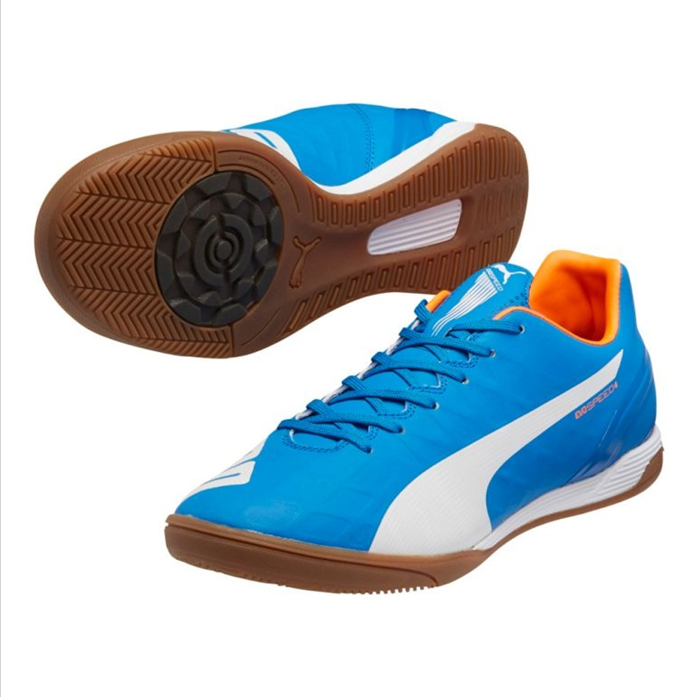 c046a14a6dc  62.99 - Puma EvoSpeed 4.4 IT Indoor Soccer Shoes (Electric Blue ...