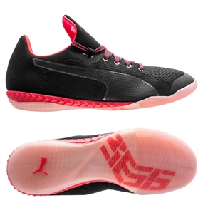 Puma 365 evoKNIT Ignite CT Indoor Soccer Shoes (Black/White/Bright Plasma)