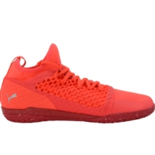 Puma 365 Ignite Netfit CT Indoor Soccer Shoes (Fiery Coral/Puma White)