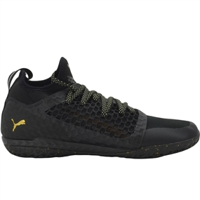 Puma 365 Ignite Netfit CT Indoor Soccer Shoes (Black/Gold/Puma White)