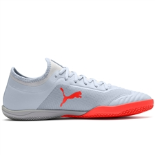 Puma 365 Sala 1 Indoor Soccer Shoes (Grey Dawn/Energy Red)