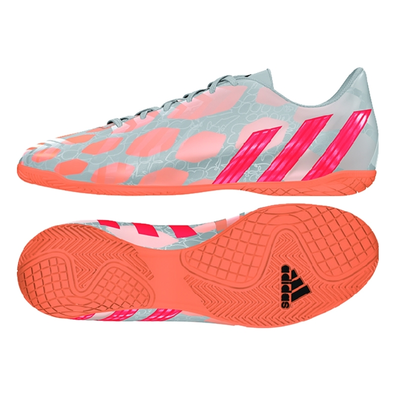 86406807a60 ... norway adidas womens predito instinct indoor soccer shoes silver  metallic solar red glow orange c3114 9880f