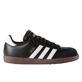 Adidas Junior Samba Classic Indoor Soccer Shoes (Black/White)