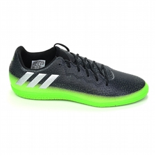 Adidas Messi 16.3 Youth Indoor Soccer Shoes (Dark Grey/Silver Metallic/Slime Green)