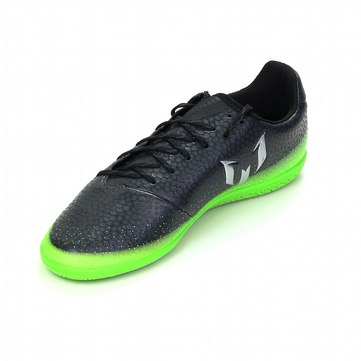 ab7336d0e23 Adidas Messi 16.3 Youth Indoor Soccer Shoes (Dark Grey Silver ...