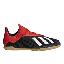 Adidas X Tango 18.3 Youth Indoor Soccer Shoes (Core Black/Off White/Active Red)