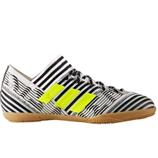 Adidas Nemeziz Tango 17.3 Youth Indoor Soccer Shoes (White/Solar Yellow/Core Black)