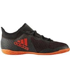 Adidas X Tango 17.3 Youth Indoor Soccer Shoes (Core Black/Solar Orange/Solar Red)