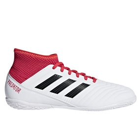 Adidas Predator Tango 18.3 Youth Indoor Soccer Shoes (White/Core Black/Real Coral)