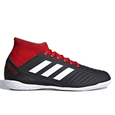 Adidas Predator Tango 18.3 Youth Indoor Soccer Shoes (Black/White/Red)