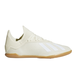 Adidas X Tango 18.3 Youth Indoor Soccer Shoes (Off White/White/Black)