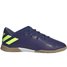 Adidas Youth Nemeziz Messi 19.3 IC Indoor Soccer Shoes (Tech Indigo/Signal Green/Glory Purple)