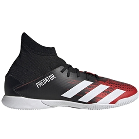 Adidas Youth Predator 20.3 Indoor Soccer Shoes (Core Black/White/Active Red)