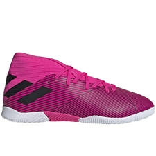 Adidas Youth Nemeziz 19.3 Indoor Soccer Shoes (Shock Pink/Core Black)