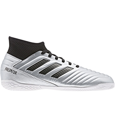 Adidas Predator 19.3 Youth Indoor Soccer Shoes (Silver Metallic/Core Black/Hi-Res Red)