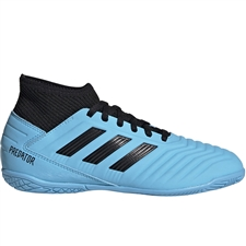 Adidas Youth Predator 19.3 Indoor Soccer Shoes (Bright Cyan/Core Black/Solar Yellow)