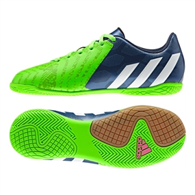 6a7a9438682f Adidas Predito Instinct Youth Indoor Soccer Shoes (Rich Blue White Solar  Green)