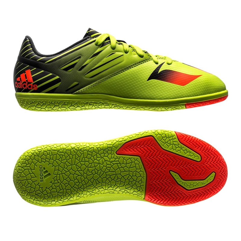 bc8942ff9 Messi 15.3 Youth Indoor Soccer Shoes (Semi Solar Slime Solar Red ...