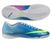 Nike Youth Mercurial Victory IV Indoor Soccer Shoes (Neptune Blue/Tide Pool Blue/Pink Flash/Volt)