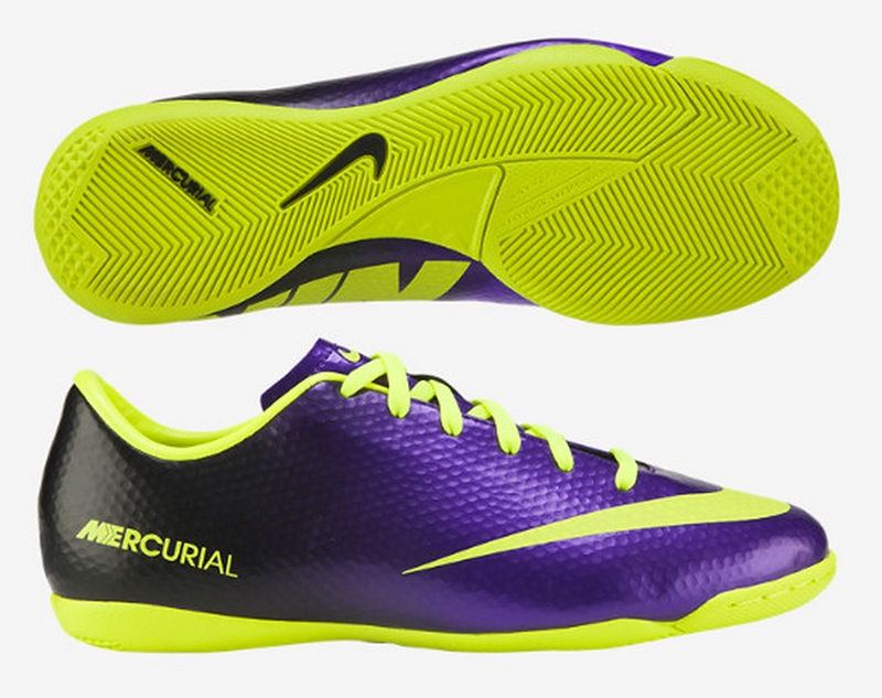 premium selection 106b4 03fdc Nike Youth Mercurial Victory IV Indoor Soccer Shoes (Electro  Purple Volt Black)