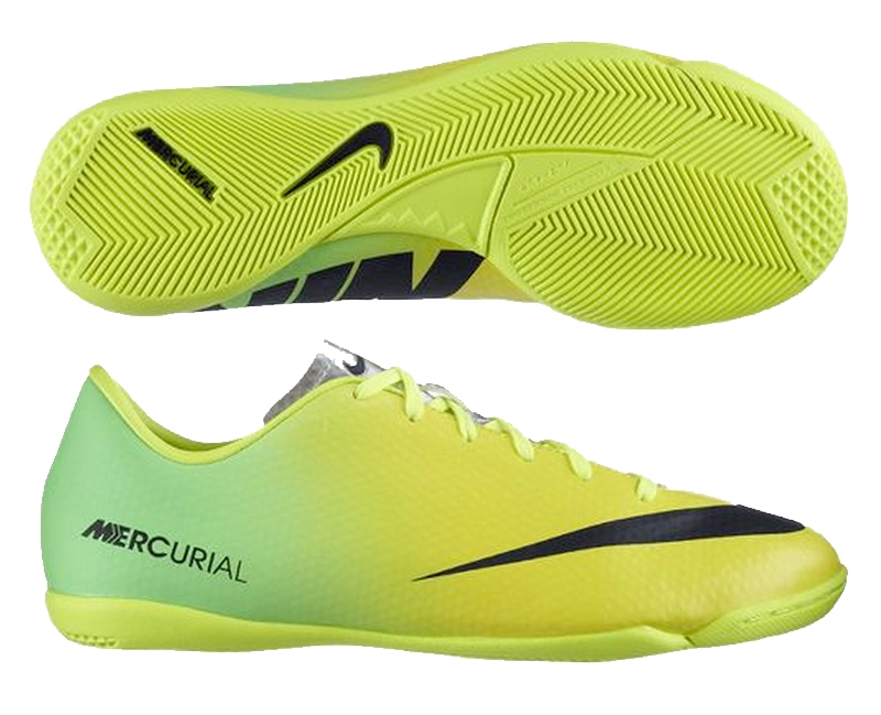Nike Youth Mercurial Victory IV Indoor Soccer Shoes (Vibrant  Yellow/Black/Neo Lime