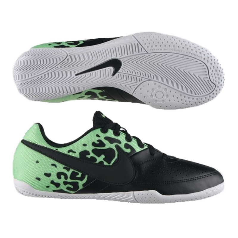 a5ba34ac1 Nike FC247 Elastico II Youth Indoor Soccer Shoes (Black Neo Lime White)