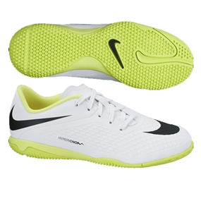 75db4f40a71 Nike Youth Hypervenom Phelon Indoor Soccer Shoes (White Volt Black)