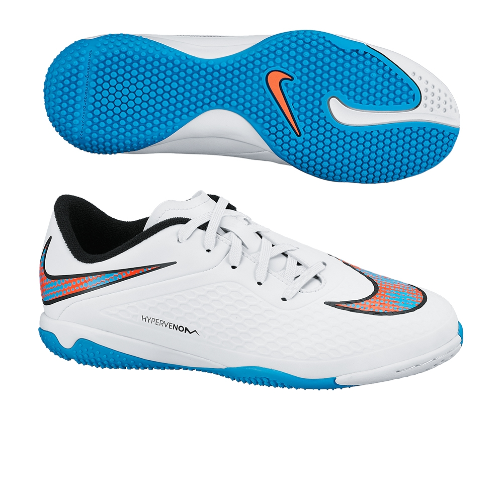 b9aac0aa932  39.95 - Nike Youth Hypervenom Phelon Indoor Soccer Shoes (White ...