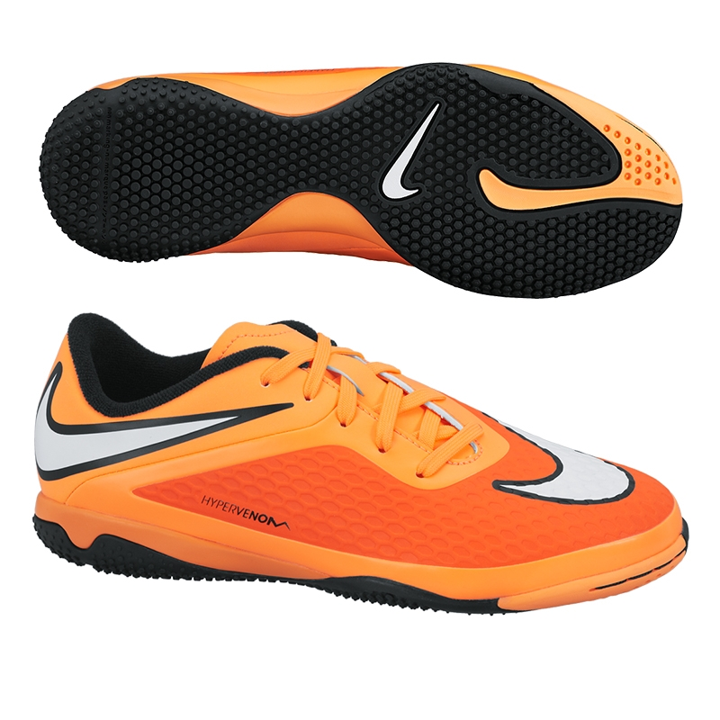 2034680b809 Nike Youth Hypervenom Phelon Indoor Soccer Shoes (Hyper  Crimson Black Atomic Orange White)