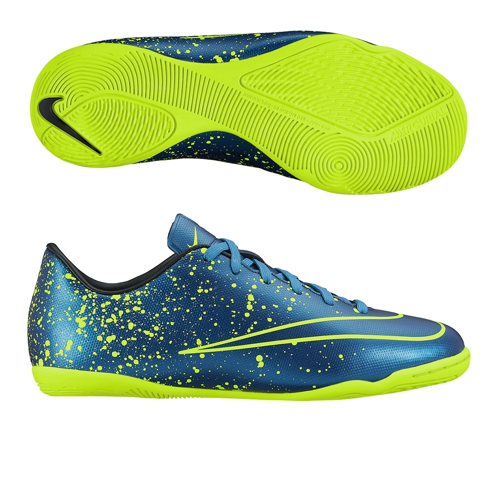 c66a913f57f  59.99 Add to Cart for Price - Nike Youth Mercurial Victory V Indoor Soccer  Shoes (Squadron Blue Black Volt)