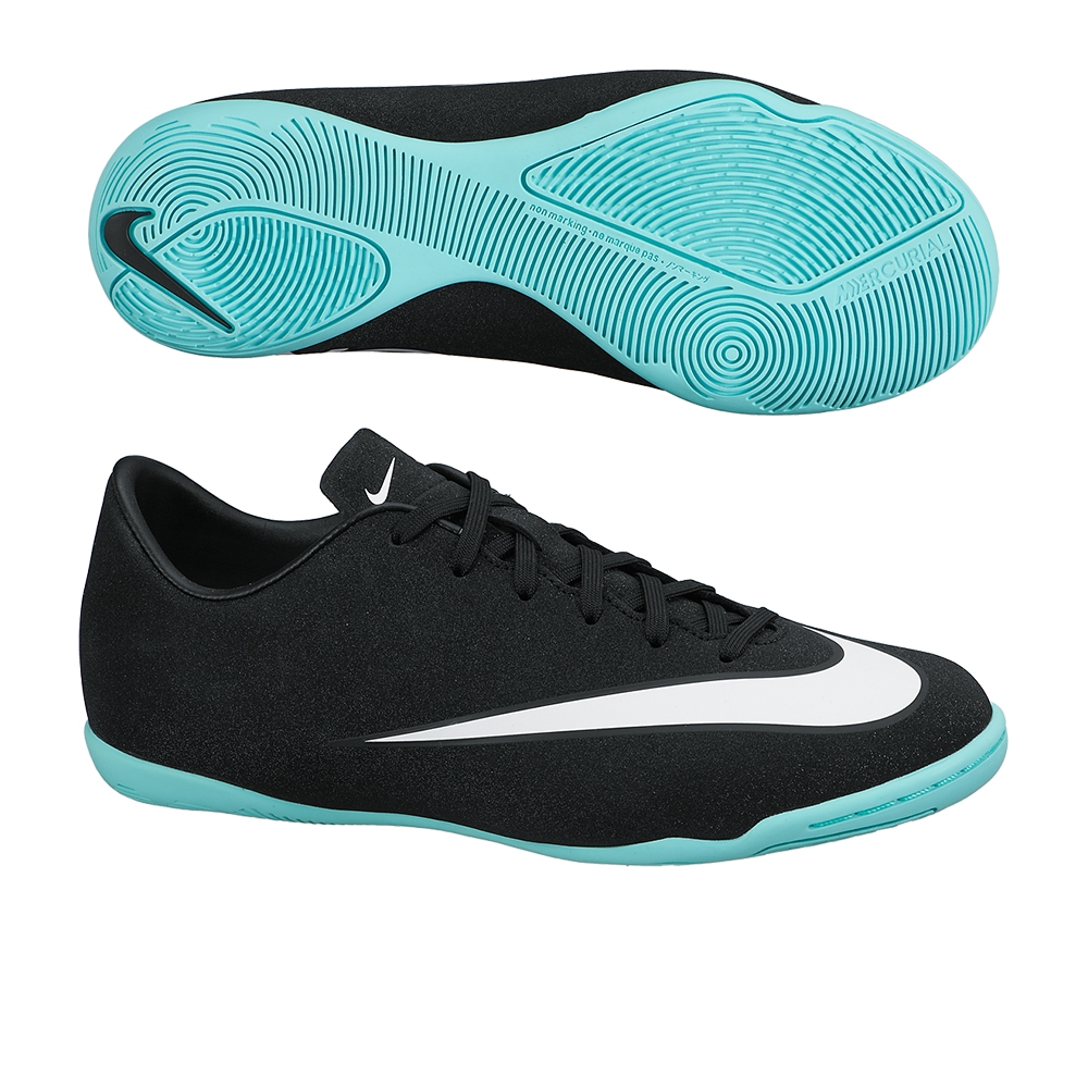 Nike Mercurial Victory V CR7 Youth Indoor Soccer Shoes (Black/Neo  Turquoise/White