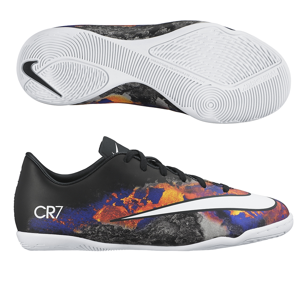 Nike Mercurial Victory V CR7 Youth Indoor Soccer Shoes (Black/Total Crimson/ White