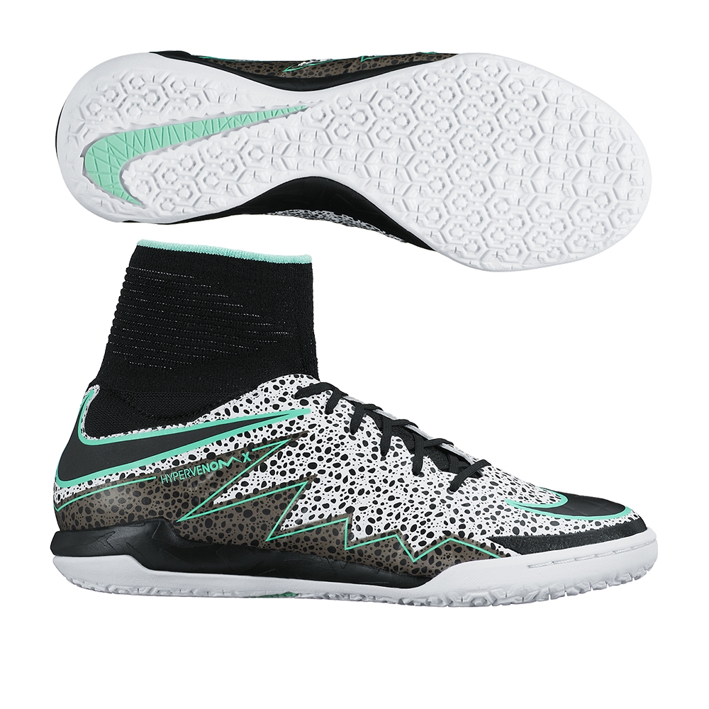 best prices united states later Nike Youth HypervenomX Proximo Street IC Indoor Soccer Shoes (White/Green  Glow/Black)