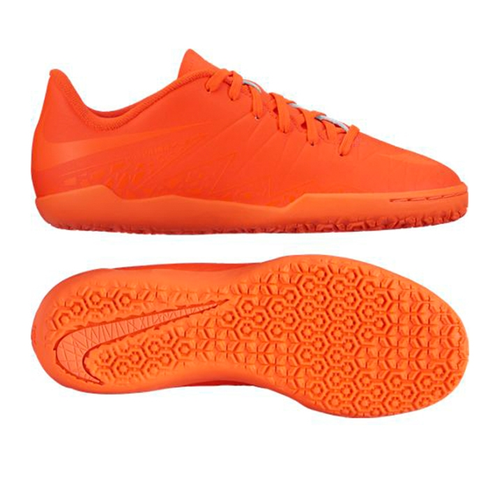 15bcc3be19ca Nike Youth Hypervenom Phelon II Indoor Soccer Shoes (Bright Crimson Hyper  Orange)