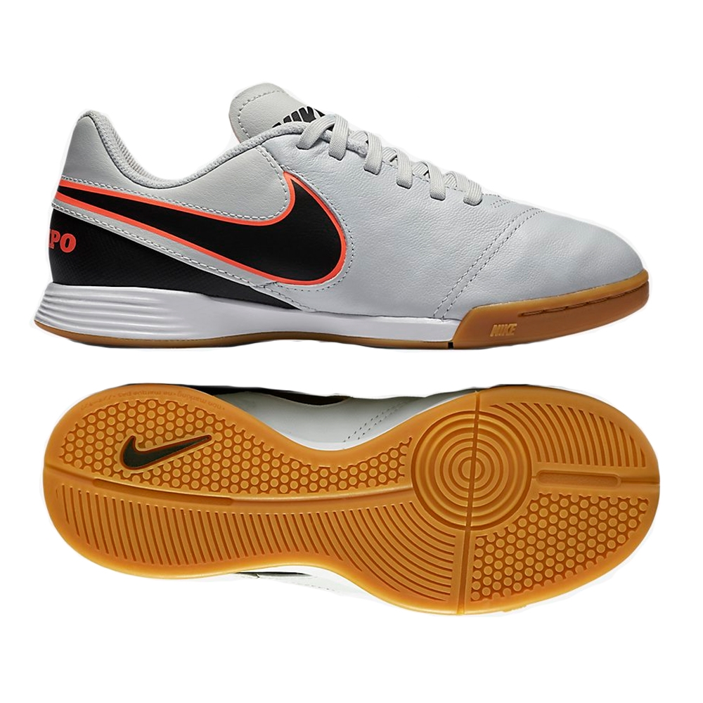 Youth Tiempo Legend VI IC Indoor Soccer Shoes (Pure Platinum/Black ...