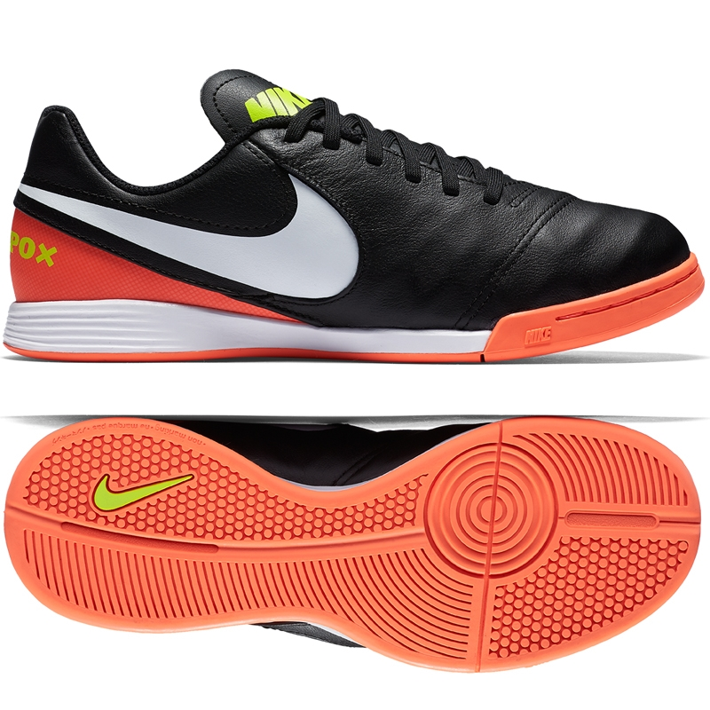 Nike Youth TiempoX Legend VI IC Indoor Soccer Shoes (Black White ... 7f8a4adf5c5d
